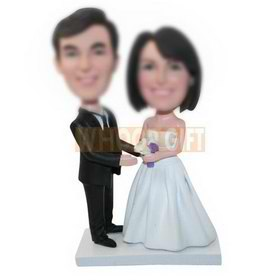 personalized custom bobbleheads for wedding