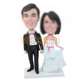 personalized custom wedding figurines bobbleheads