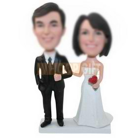custom handmade wedding cake topper bobbleheads