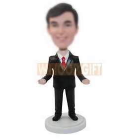 custom office manager in suit and tie bobbleheads doll