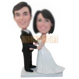 personalized custom bobbleheads for wedding ceremony