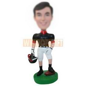 custom American football player with helmet figurines