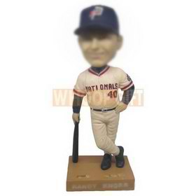 personalized custom MBL player with bat and hat bobbleheads