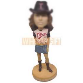 personalized hot girl wearing short skirt bobbleheads
