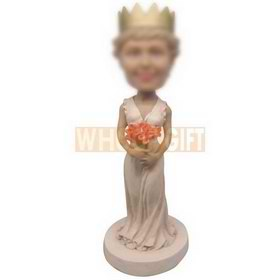 personalized custom elegant lady with crown bobbleheads