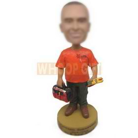 personalized custom engineer with toolbag bobbleheads