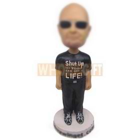 personalized cool guy wearing black sunglases bobbleheads