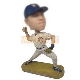 personalized baseball player pitching ball bobbleheads