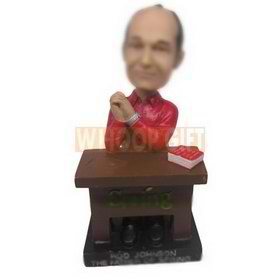 personalized CEO boss executive in red shirt bobbleheads