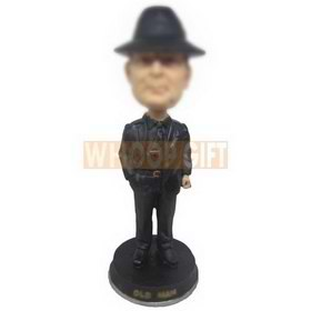 personalized cool man in black bobbleheads