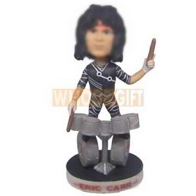 personalized custom drummer beating drums bobbleheads