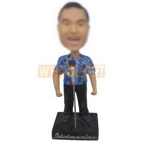 personalized custom male singer wearing eye-catching clothes bobbleheads