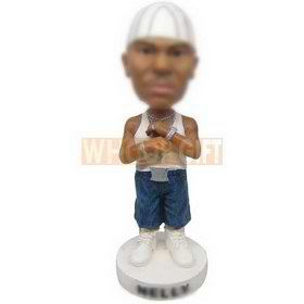 personalized fabulous guy hip-hop rapper master bobbleheads