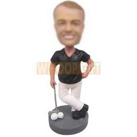 personalized custom golf player golfer bobbleheads