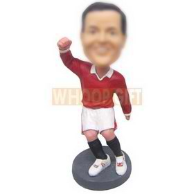 personalized custom soccer player celebrating goal bobbleheads