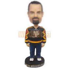 personalized custom man in sports jersey bobbleheads