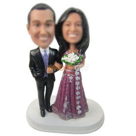personalized custom couple bobbleheads anniversary souvenir