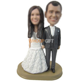 personalized custom wedding cake topper bobbleheads for wedding