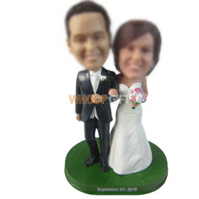 personalized custom new couple bobbleheads