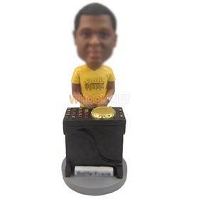 personalized custom DJ with DJ equipment bobbleheads