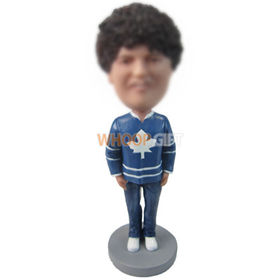 custom man in long-sleeved T-shirt and jeans bobbleheads