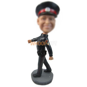 personalized custom policeman figurines bobbleheads