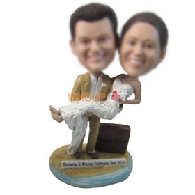 personalized custom wedding bobbleheads cake toppers