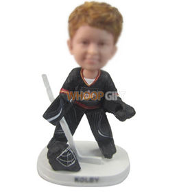 custom kid ice hockey player bobbleheads