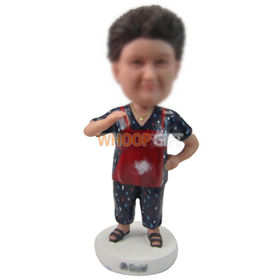 personalized custom chubby lady in apron bobbleheads
