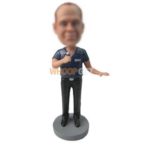 personalized custom male singer bobbleheads