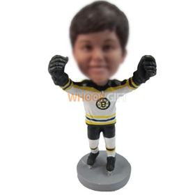 personalized custom boy in ice hockey jersey bobbleheads