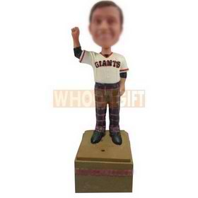 Custom bobbleheads in giants baseball team