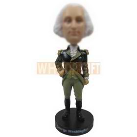 custom George Washington style style bobbleheads