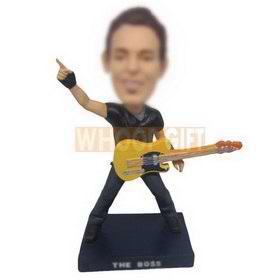 personalized custom cool guitarist bobblehead