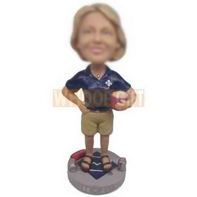 personalized custom twizzlers employee in uniform bobblehead