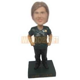 personalized custom employee in uniform bobblehead