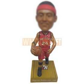 personalized basketball player in NBA raptors jersey bobblehead