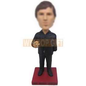 personalized custom cool man with a cigarette in hand bobblehead