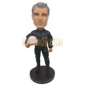 personalized custom fire fighter in uniform bobblehead