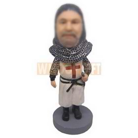 personalized custom Crusades with silver helmet bobbleheads