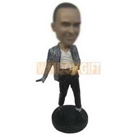 personalized michael jackson style dancer bobblehead
