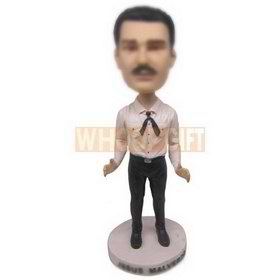 Bobbleheads custom white shirt black suit pants