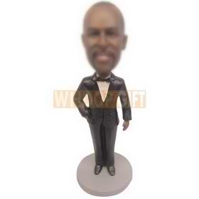black skin man in suit custom bobbleheads