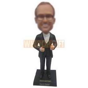 glasses man in black suit custom bobbleheads