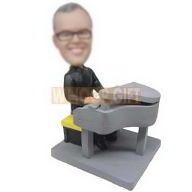 glasses man playing the piano custom bobbleheads
