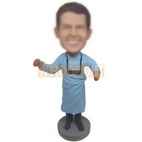man in blue longdress custom bobbleheads
