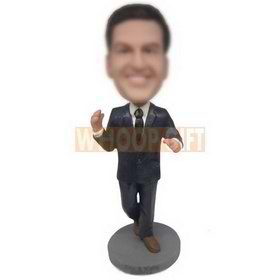 an in dark blue suit custom bobbleheads