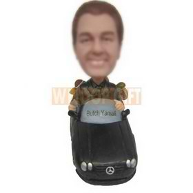 rich man driving his benz custom bobbleheads