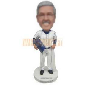 glasses man in white sports wear custom bobbleheads