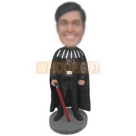 superman in black mantle holding weapon custom bobbleheads